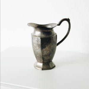 Anthropologie Silver Pitcher Vase